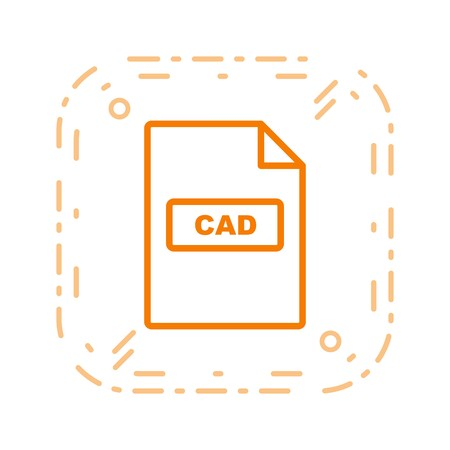 CAD Vector Icon Sign Icon Vector Illustration For Personal And Commercial Use... Clean Look Trendy Icon...