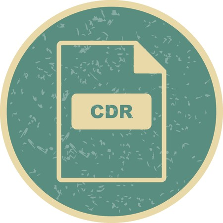 CDR Vector Icon Sign Icon Vector Illustration For Personal And Commercial Use... Clean Look Trendy Icon...