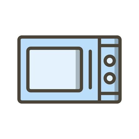 Mikrowelle Vektor Icon Zeichen Symbol Vektor Illustration für den privaten und gewerblichen Gebrauch... Reinigen Sie trendige Symbol... Vektorgrafik