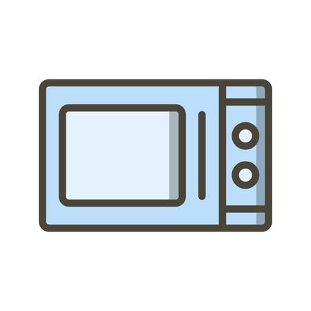 Microwave Oven Vector Icon Sign Icon Vector Illustration For Personal And Commercial Use...