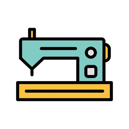 Sewing Machine Vector Icon Sign Icon Vector Illustration For Personal And Commercial Use...Clean Look Trendy Icon... Illustration