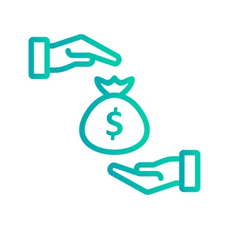 Bribe Vector Icon Sign Icon Vector Illustration For Personal And Commercial Use...Clean Look Trendy Icon...