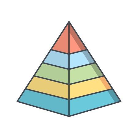 Pyramide Vektor Icon Zeichen Symbol Vektor Illustration für den privaten und gewerblichen Gebrauch... Reinigen Sie trendige Symbol... Vektorgrafik