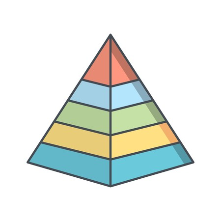 Pyramid Vector Icon Sign Icon Vector Illustration For Personal And Commercial Use... Clean Look Trendy Icon...