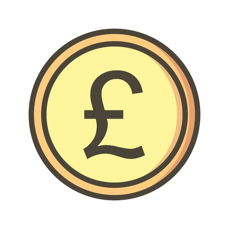 Pound Vector Icon Sign Icon Vector Illustration For Personal And Commercial Use...Clean Look Trendy Icon...