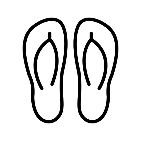 Slippers Vector Icon Sign Icon Vector Illustration For Personal And Commercial Use...