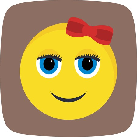 Girl Emoji Vector Icon Sign Icon Vector Illustration For Personal And Commercial Use...Clean Look Trendy Icon... Ilustracja