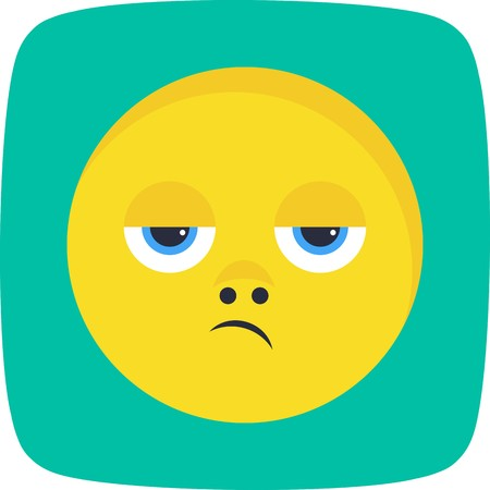 Disappointed Emoji Vector Icon Sign Icon Vector Illustration For Personal And Commercial Use...Clean Look Trendy Icon...