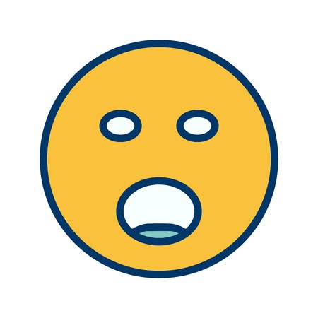 Shouting Emoji Vector Icon Sign Icon Vector Illustration For Personal And Commercial Use...Clean Look Trendy Icon...