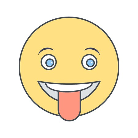 Tongue Emoji Vector Icon Sign Icon Vector Illustration For Personal And Commercial Use... Clean Look Trendy Icon... Ilustração