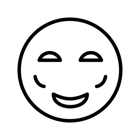 Blush Emoji Vector Icon Sign Icon Vector Illustration For Personal And Commercial Use... Clean Look Trendy Icon... Çizim