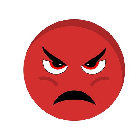 Angry Emoji Vector Icon Sign Icon Vector Illustration For Personal And Commercial Use...Clean Look Trendy Icon...