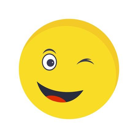 Knipoog Emoji Vector pictogram teken pictogram vectorillustratie voor persoonlijk en commercieel gebruik... Schone blik Trendy pictogram...
