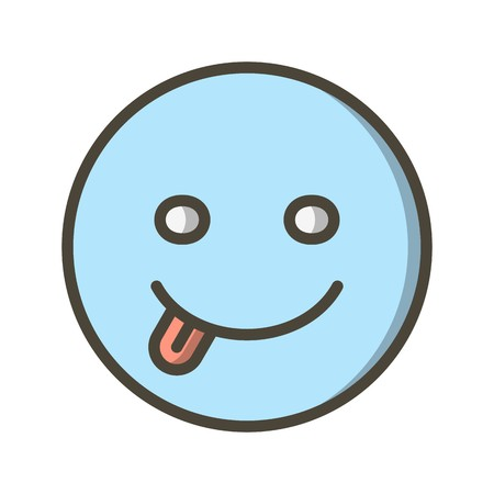 Tongue Emoji Vector Icon Sign Icon Vector Illustration For Personal And Commercial Use...Clean Look Trendy Icon... Banco de Imagens - 113216002