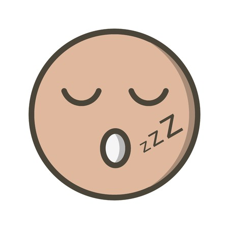 Sleep Emoji Vector Icon Sign Icon Vector Illustration For Personal And Commercial Use...Clean Look Trendy Icon... Ilustracja