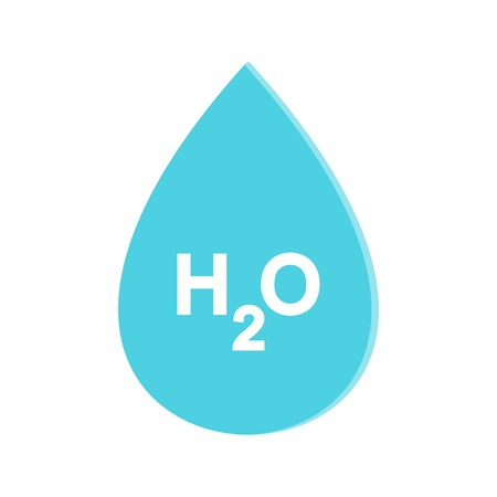 H2O  Vector Icon Sign Icon Vector Illustration For Personal And Commercial Use... Clean Look Trendy Icon... 向量圖像