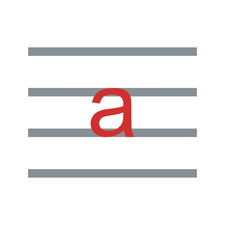 Lowercase Vector Icon Sign Icon Vector Illustration For Personal And Commercial Use... Clean Look Trendy Icon... Illusztráció