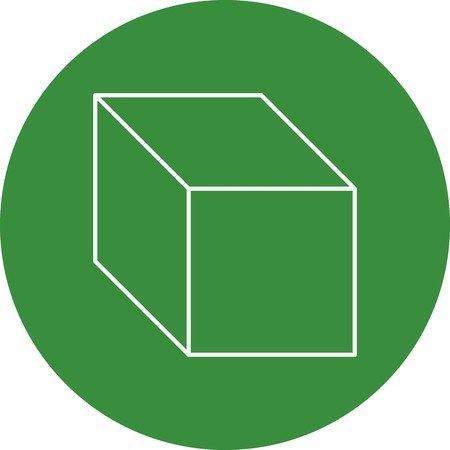 Cube Vector Icon Sign Icon Vector Illustration For Personal And Commercial Use...Clean Look Trendy Icon...