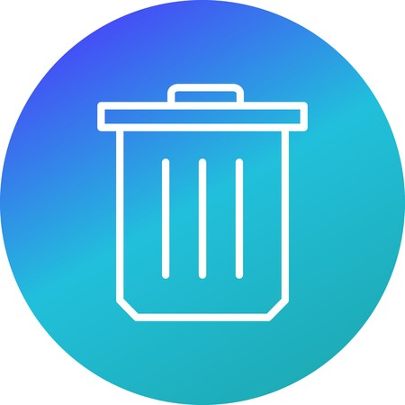 Trash Vector Icon Sign Icon Vector Illustration For Personal And Commercial Use...Clean Look Trendy Icon...