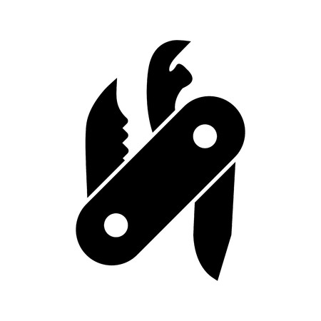 Swiss Army Knife Vector Icon Sign Icon Vector Illustration For Personal And Commercial Use...Clean Look Trendy Icon... Stock Vector - 113239046