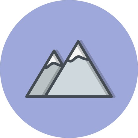 Mountains Vector Icon Sign Icon Vector Illustration For Personal And Commercial Use...Clean Look Trendy Icon... Vectores