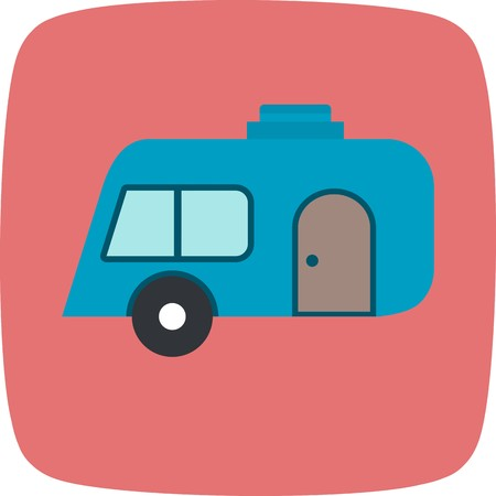 Caravan Vector Icon Sign Icon Vector Illustration For Personal And Commercial Use...