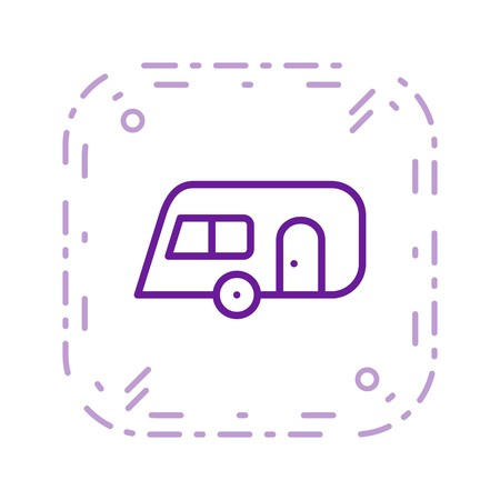 Caravan Vector Icon Sign Icon Vector Illustration For Personal And Commercial Use...Clean Look Trendy Icon...