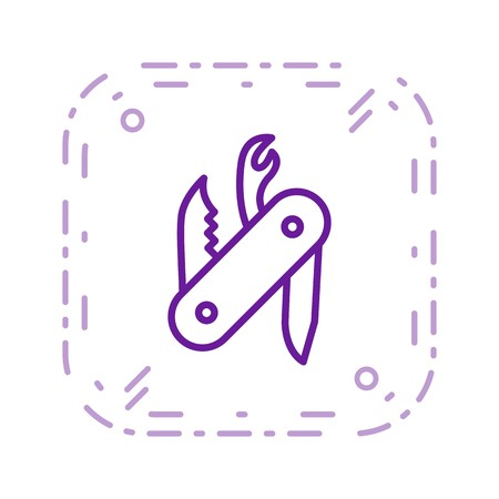 Swiss Army Knife Vector Icon Sign Icon Vector Illustration For Personal And Commercial Use...Clean Look Trendy Icon... Stock Vector - 113239391