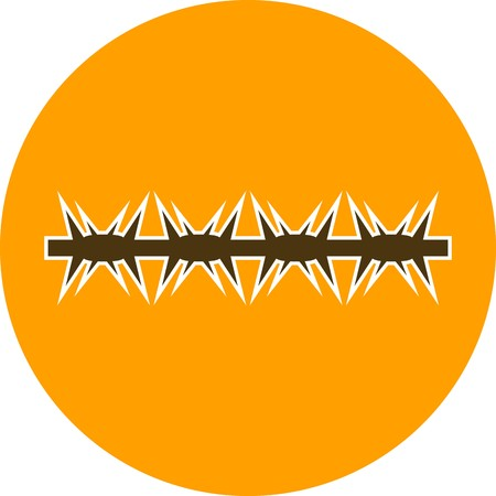 barbed wire Vector Icon Sign Icon Vector Illustration For Personal And Commercial Use... Clean Look Trendy Icon...