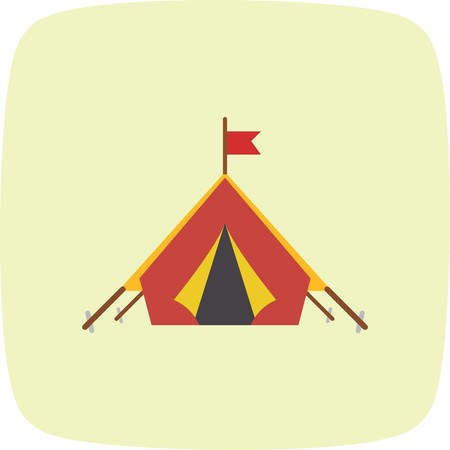 Tent Vector Icon Sign Icon Vector Illustration For Personal And Commercial Use...Clean Look Trendy Icon... Vectores