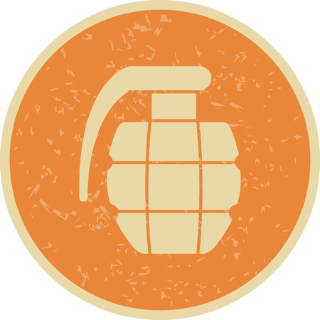 Grenade Vector Icon Sign Icon Vector Illustration For Personal And Commercial Use... Clean Look Trendy Icon... Illustration