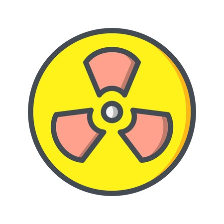 Radiation Vector Icon Sign Icon Vector Illustration For Personal And Commercial Use...Clean Look Trendy Icon...