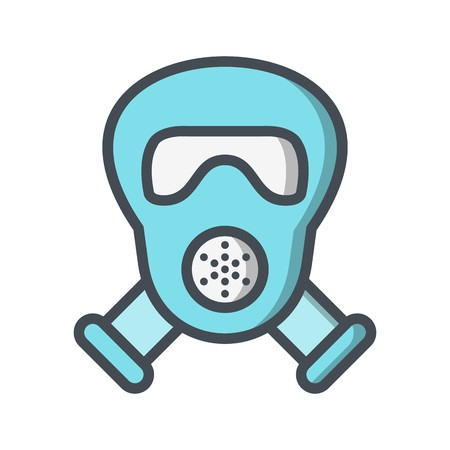 Gas mask Vector Icon Sign Icon Vector Illustration For Personal And Commercial Use...