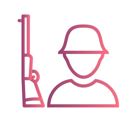 Solider Vector Icon Sign Icon Vector Illustration For Personal And Commercial Use...