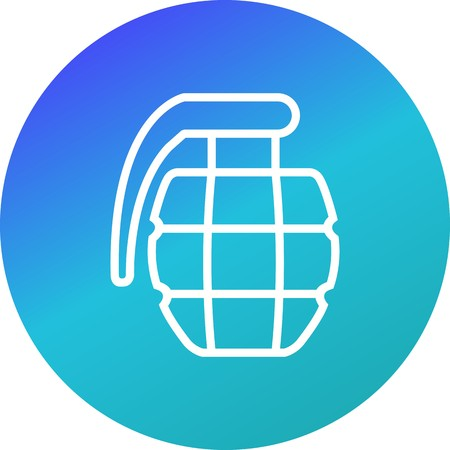 Grenade Vector Icon Sign Icon Vector Illustration For Personal And Commercial Use... Clean Look Trendy Icon...