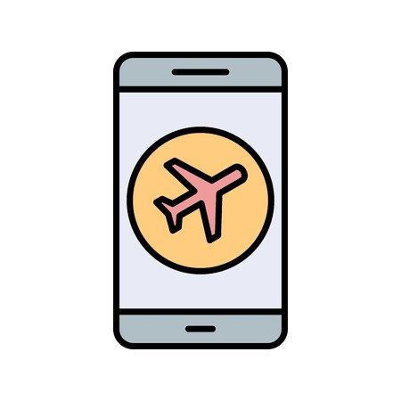 Airplane Mobile Application Vector Icon Sign Icon Vector Illustration For Personal And Commercial Use...Clean Look Trendy Icon...