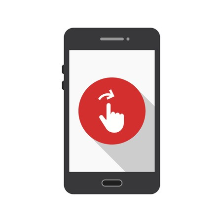 Swipe Mobile Application Vector Icon Sign Icon Vector Illustration For Personal And Commercial Use...Clean Look Trendy Icon... Illustration