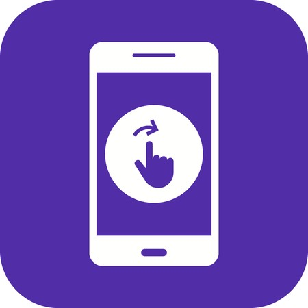 Swipe Mobile Application Vector Icon Sign Icon Vector Illustration For Personal And Commercial Use...Clean Look Trendy Icon... Иллюстрация