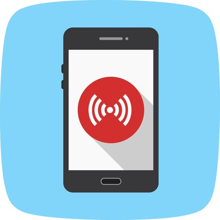Hotspot Mobile Application Vector Icon Sign Icon Vector Illustration For Personal And Commercial Use...Clean Look Trendy Icon... Иллюстрация