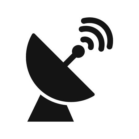 Parabola satellitare vettore icona Icona segno illustrazione vettoriale per un uso personale e uso commerciale... Look pulito e icona alla moda... Vettoriali