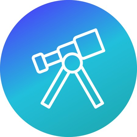 Telescope Vector Icon Sign Icon Vector Illustration For Personal And Commercial Use...Clean Look Trendy Icon...