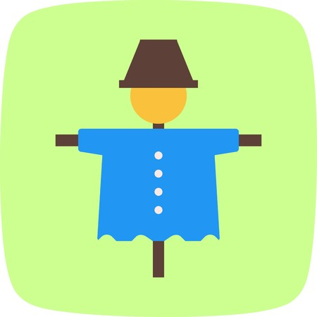Scare Crow Vector icono icono de signo ilustración vectorial para uso personal y comercial ... Icono de moda mirada limpia ...