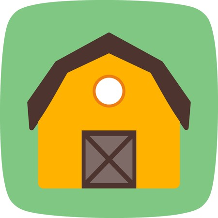 Barn Vector Icon Sign Icon Vector Illustration For Personal And Commercial Use...Clean Look Trendy Icon...