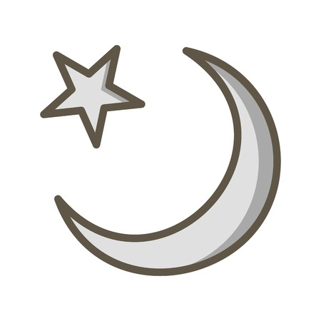Crescent Moon Vector Icon Sign Icon Vector Illustration For Personal And Commercial Use...