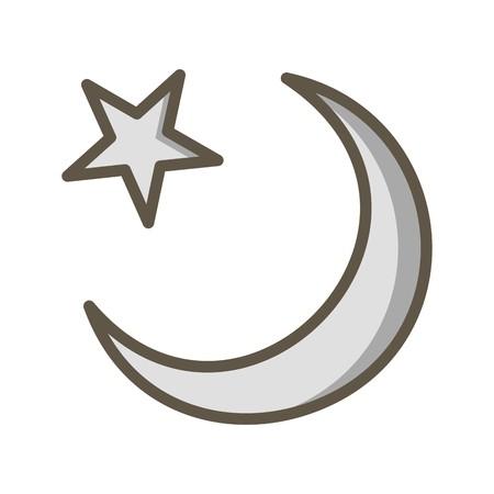 Croissant de lune Icône vecteur icône de signe l'illustration vectorielle pour usage personnel et commercial... L'icône de la mode Look propre...