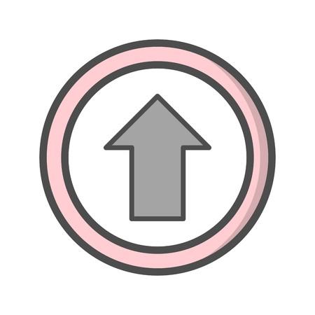 Aller tout droit vecteur Icône Icône de signe Vector Illustration pour utilisation personnelle et commerciale... L'icône de la mode Look propre... Vecteurs