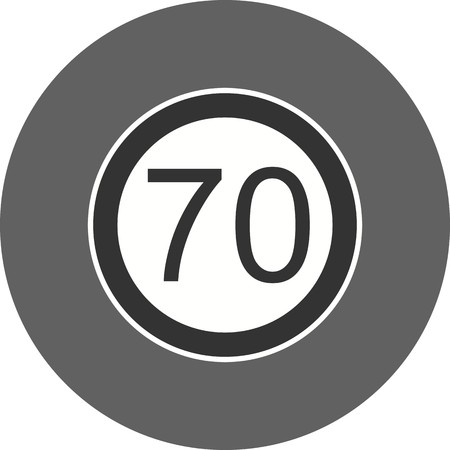Vector Speed limit 70 Icon Sign Icon Vector Illustration For Personal And Commercial Use...