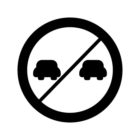 Vector Overtaking prohibited Icon Sign Icon Vector Illustration For Personal And Commercial Use...Clean Look Trendy Icon... Archivio Fotografico - 126859156