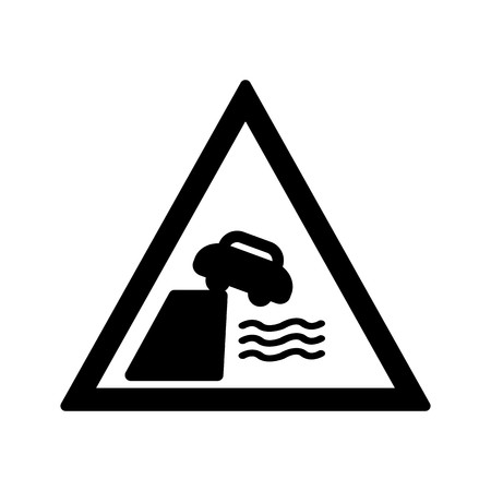 Vector Road leads on to quay or river bank Icon Sign Icon Vector Illustration For Personal And Commercial Use... Clean Look Trendy Icon...  イラスト・ベクター素材