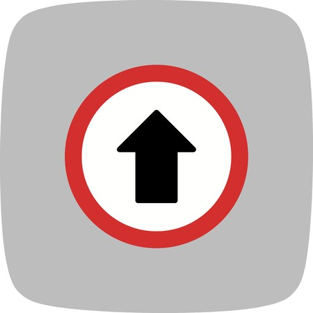 Vector Go straight ahead Icon Sign Icon Vector Illustration For Personal And Commercial Use...Clean Look Trendy Icon... Illustration